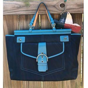Coach tote blue vintage